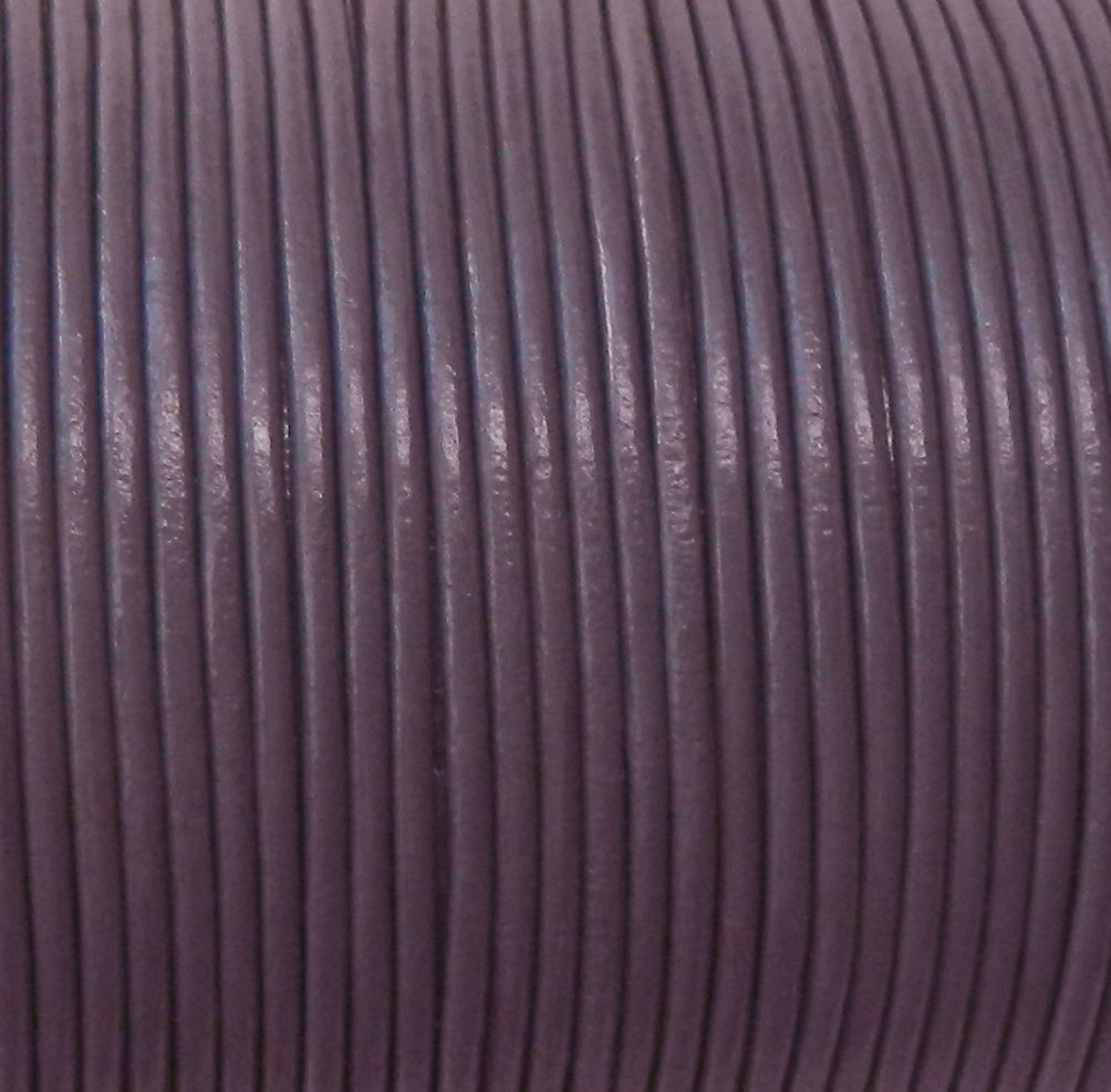 Imported India Leather Cord 2mm Round 5 Yards DarkPurple