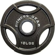 Fitness Gear 10lbs Olympic Grip Weight Plate, Single