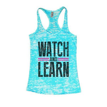 Womens Burnout Tank Top Watch and Learn Coach Teachers Gift Funny Threadz X-Large, Blue