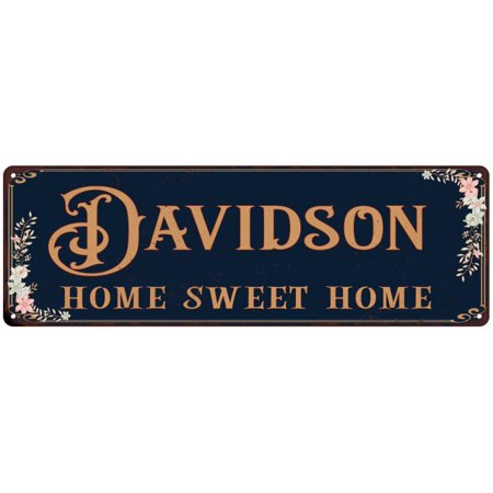 DAVIDSON Home Sweet Home Victorian Personalized 6x18 Metal Sign 106180046856 (Personalized Sweets)