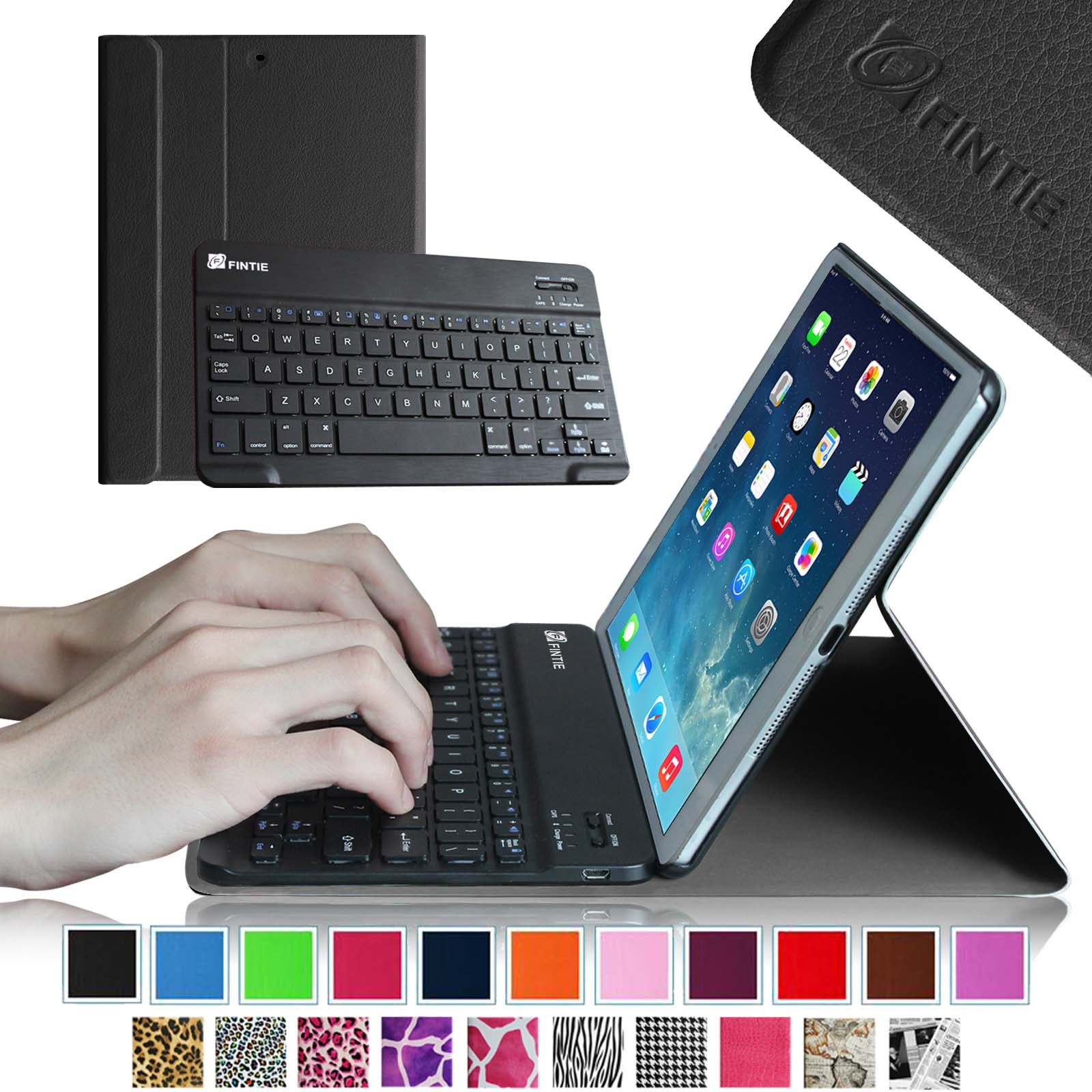 Fintie SmartShell Cover with Wireless Bluetooth Keyboard Case for Apple iPad Air / iPad 5 (5th Generation), Black