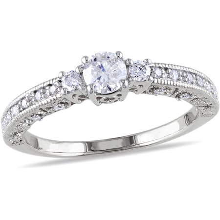 1/2 Carat T.W. Diamond Engagement Ring in 10kt White Gold