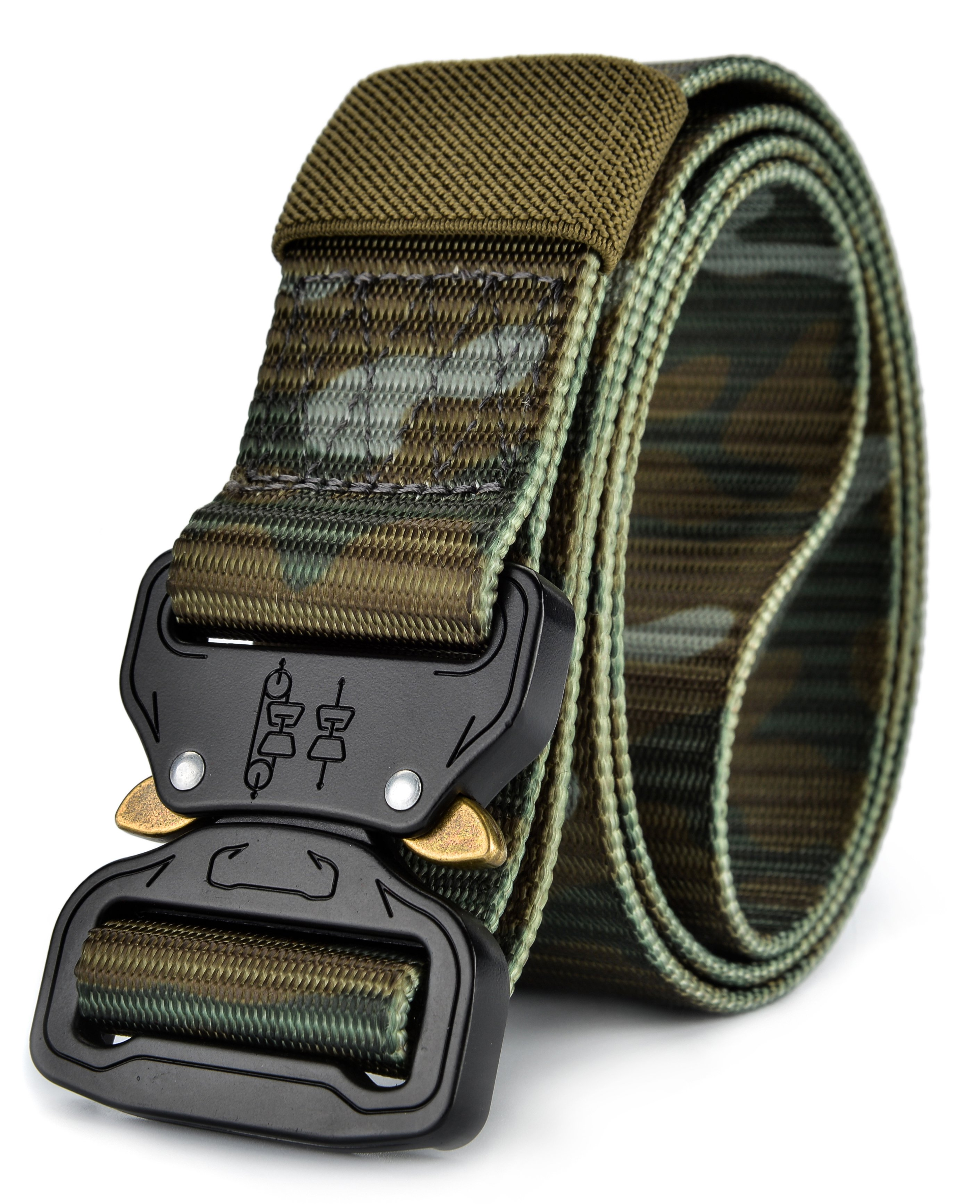 Men/'s Tactical Military Heavy Duty Nylon Quick Release Rigger/'s Webbed Belt