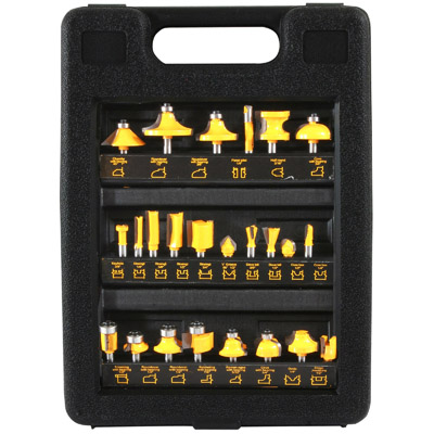 24 Piece Router Bit Set by New Buffalo Corporation