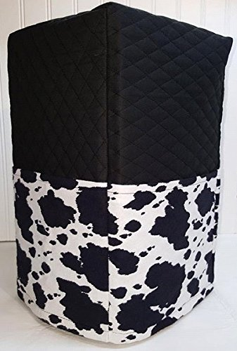 Black & White Cowhide Bread Machine Cover (All Cowhide) by Penny's Needful Things