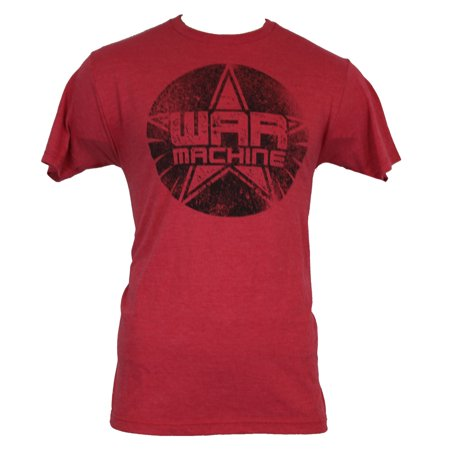 - Iron Man 3 (Marvel Comis) Mens T-Shirt -  Distressed War Machine Star Logo