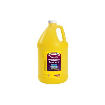 Colorations Simply Washable Tempera Paint, Yellow - 1 Gallon (Item # GWSTYE)