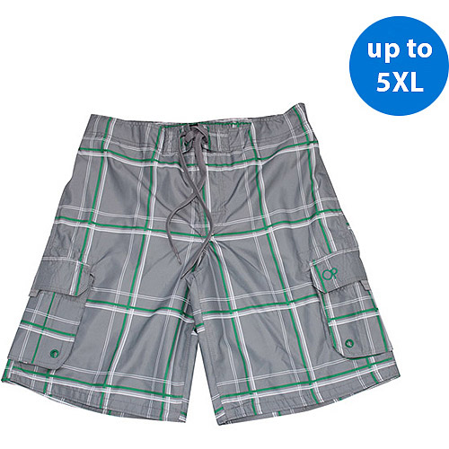 Op Big Men's Plaid E-Boardshort
