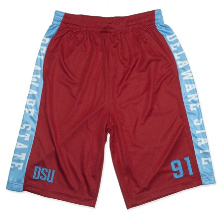 State Hornets Basketball - Big Boy Delaware State Hornets Mens Basketball Shorts [Red - L]