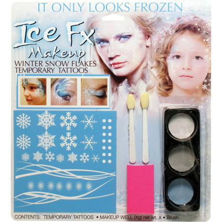 Winter Snow Flake Makeup Kit Adult Halloween Accessory](Boots Halloween Makeup)