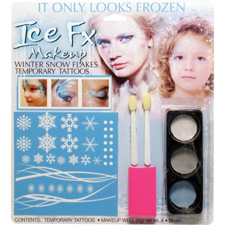 Winter Snow Flake Makeup Kit Adult Halloween Accessory - Simple Cute Halloween Makeup