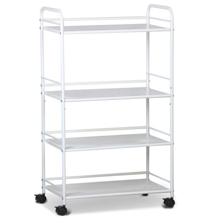 Yaheetech Rolling Trolley Cart Kitchen Storage Cart 4 Tier Facial ...