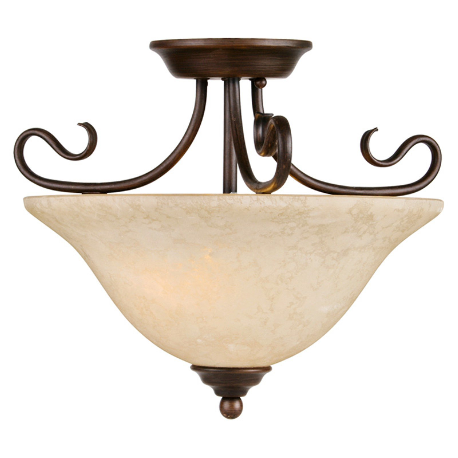 Livex Coronado 6121-58 15.5 Inch Ceiling Mount - Imperial Bronze