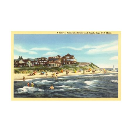 Falmouth Heights, Cape Cod Print Wall Art ()