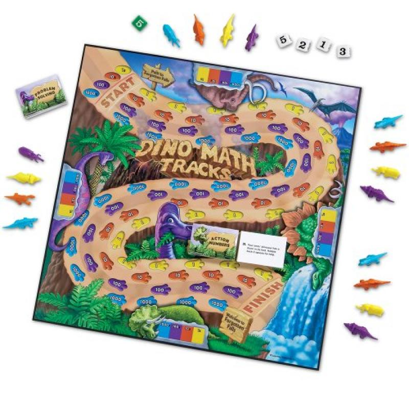 Learning Resources Dino Math Tracks Game