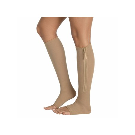- Women's Zip Up Compression Socks - Firm Support Gel Foot Bed