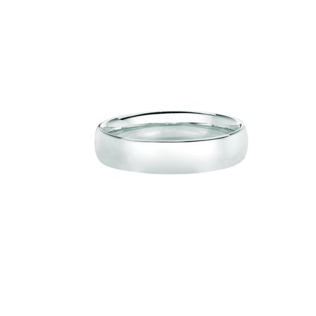 14K White Gold 8mm Exquisite Wedding Band Size (8mm 14k White Gold Band)