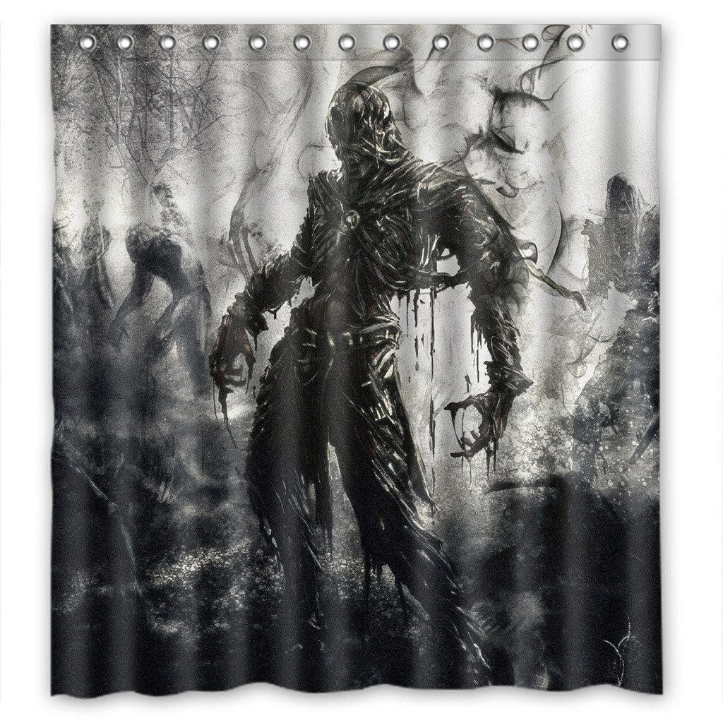 DEYOU The Walking Dead Design Shower Curtain Polyester Fabric Bathroom Shower Curtain Size 66x72 inch
