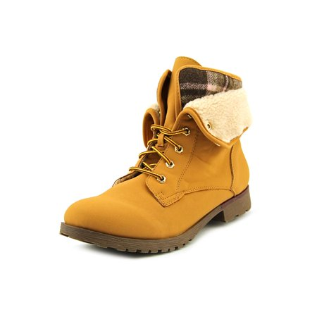 Spraypaint Women Round Toe Synthetic Tan Ankle Boot