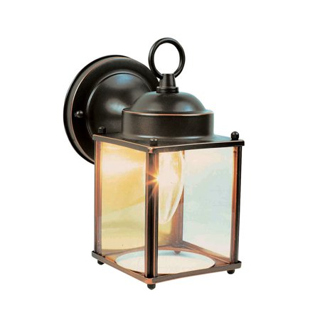 Design House 506576 Coach 1-Light Indoor/Outdoor Wall Light, Oil Rubbed Bronze Brass Coach Lights