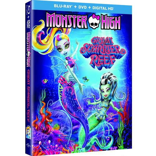 Monster High: Great Scarrier Reef (Blu-ray + DVD +Digital HD) (With INSTAWATCH) (Widescreen)