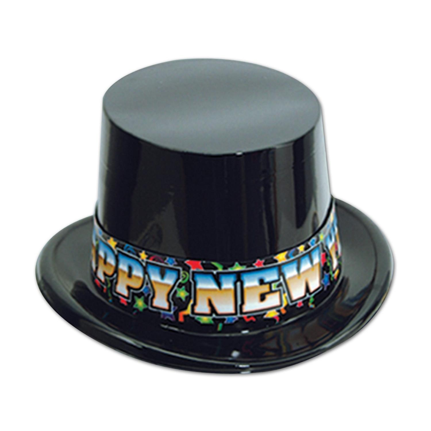 """Club Pack of 25 Festive """"Happy New Years"""" High Society Party Favor Hats"""