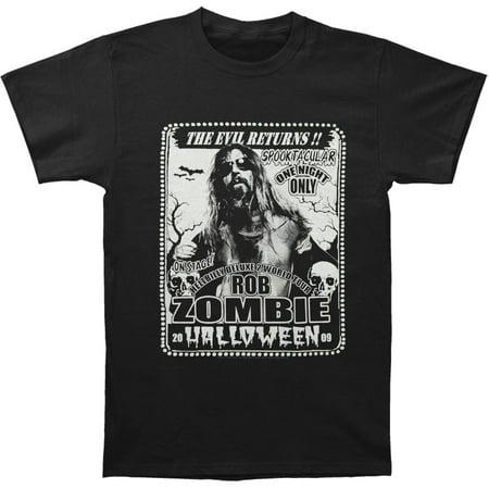 Rob Zombie Halloween Part 2 (Rob Zombie Men's  Spooktacular 2009 Tour T-shirt)
