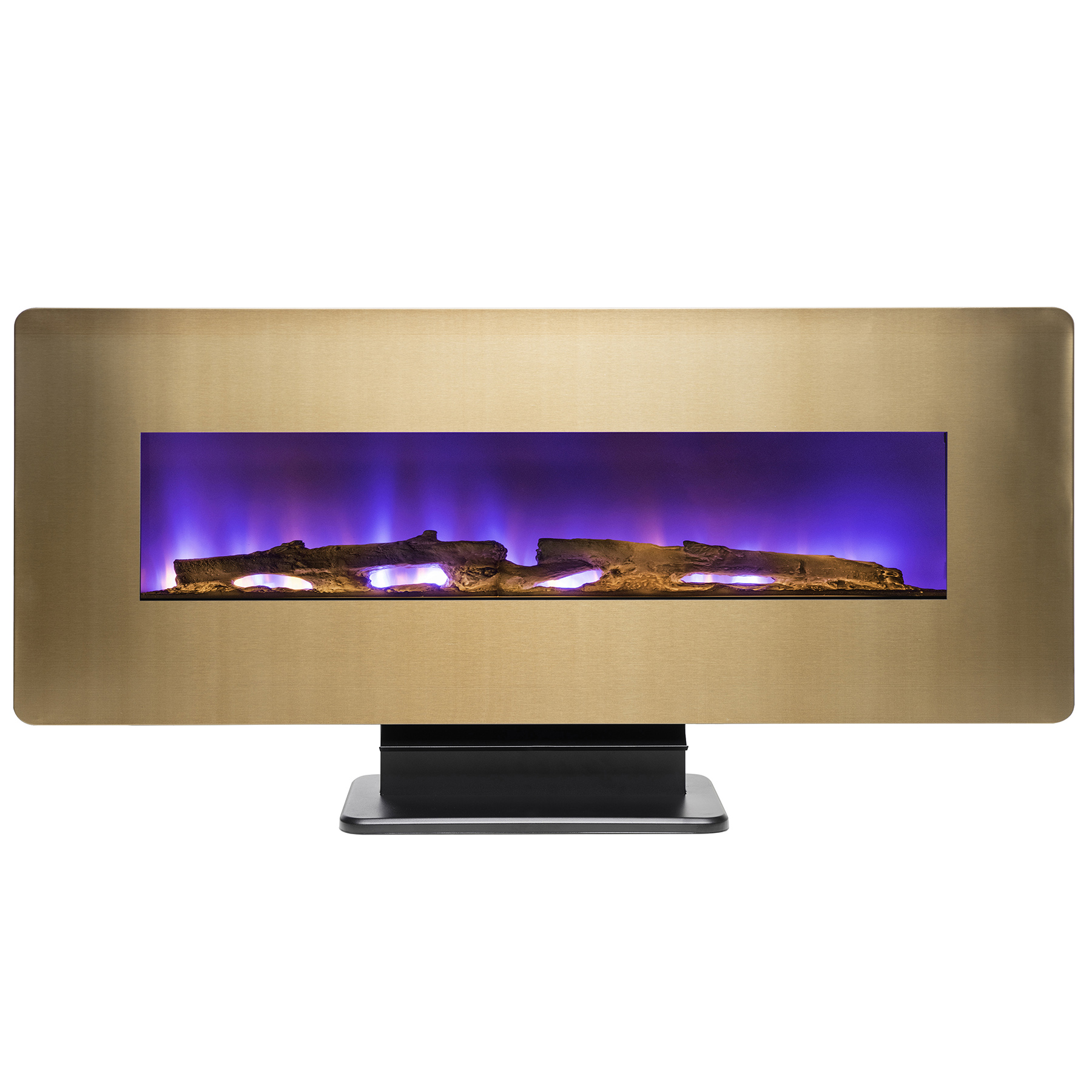"""AKDY FP0074 48"""" Wall Mount Freestanding Electric Fireplace Heater Remote 3D Flames Logs"""