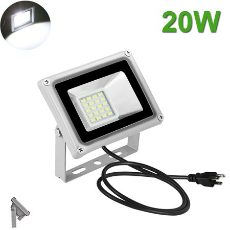 20W LED Flood Light Outdoor Garden Landscape Spot Lamp US Plug Floodlight