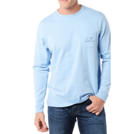 Blue Passion Vine - Vineyard Vines Men's Long Sleeve Graphic Packet Tee Jake Blue $48.00