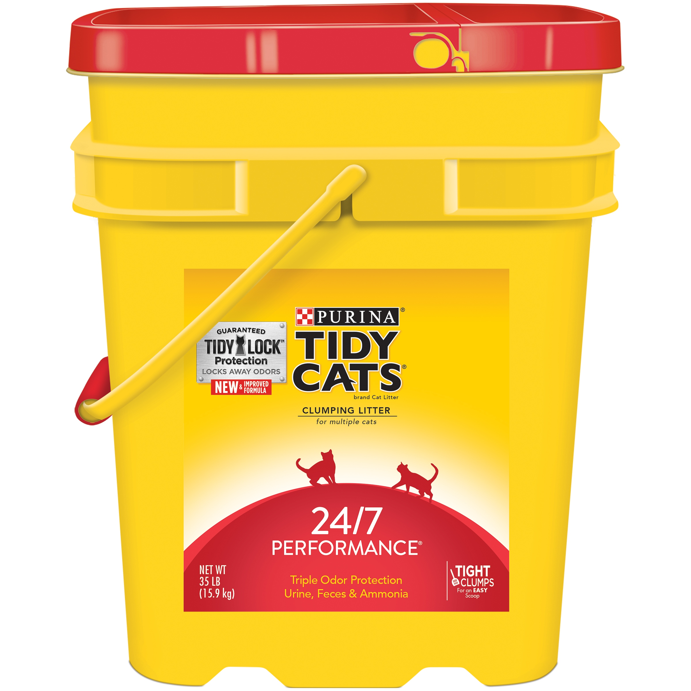 Purina Tidy Cats 24/7 Performance Multi-cat Clumping Cat Litter, 35 Lb.