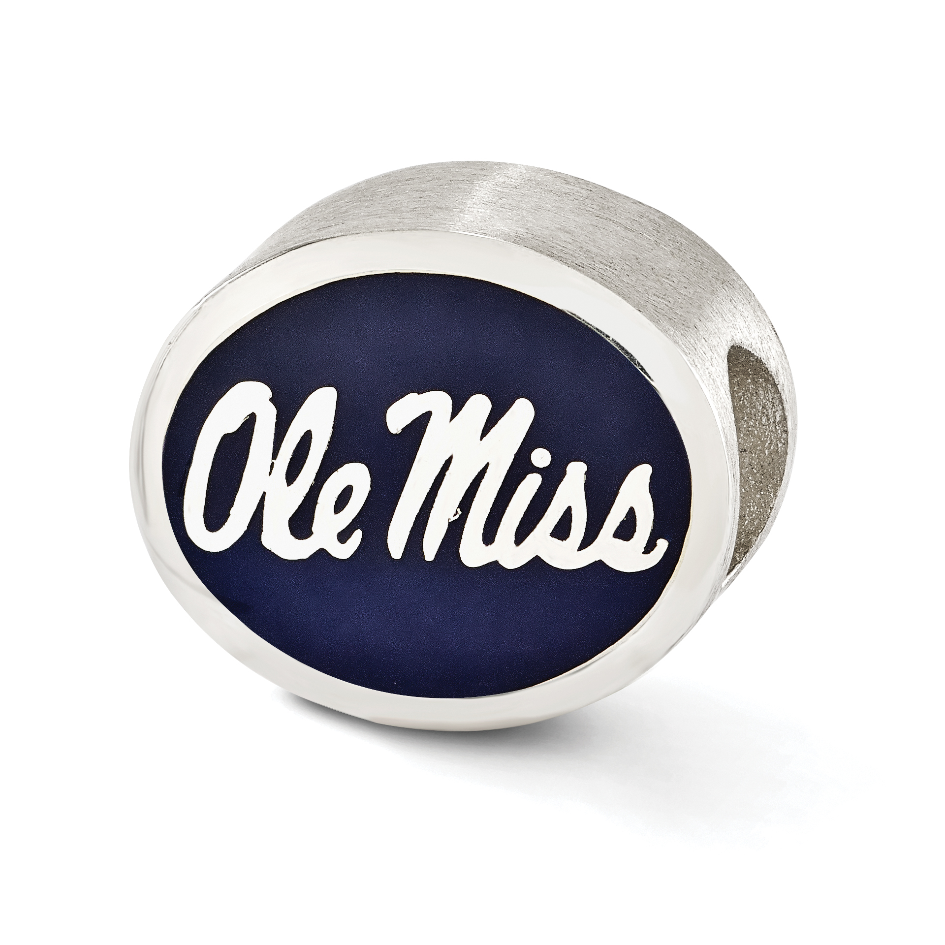 Sterling Silver Enameled University of Mississippi Collegiate Bead QRS2048E1