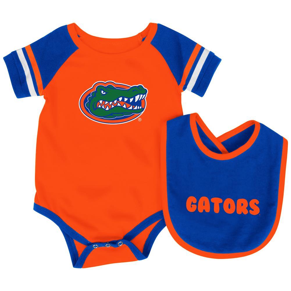 University of Florida Gators Baby Bodysuit and Bib Set Infant Jersey by Colosseum