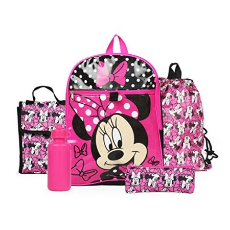 63d8225d66c Disney - Disney Minnie Mouse Pink Backpack Back to School 5 Piece  Essentials Set - Walmart.com