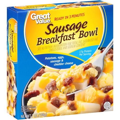 Great Value Sausage Breakfast Bowl, 7 oz