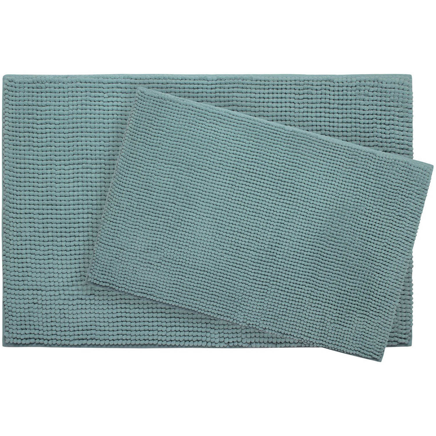 Plush Memory Foam Chenille Cushioned 2-Piece Bath Mat with Bounce Comfort Technology
