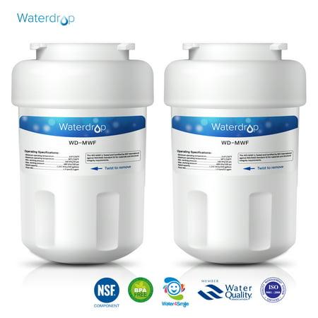 2 Pack Waterdrop Mwf Replacement For Ge Mwf Smartwater  Mwfa  Mwfp  Gwf  Gwfa  Kenmore 9991 46 9991  469991 Refrigerator Water Filter