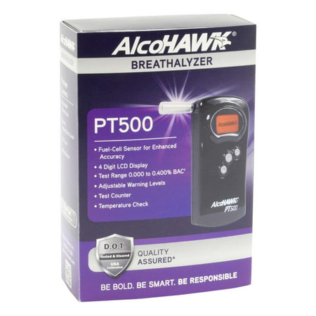 - AlcoHAWK PT500 Professional Breathalyzer Kit