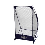 Bownet Punt and Kick Portable Football Sideline Solo Kicker Base and Net, Black