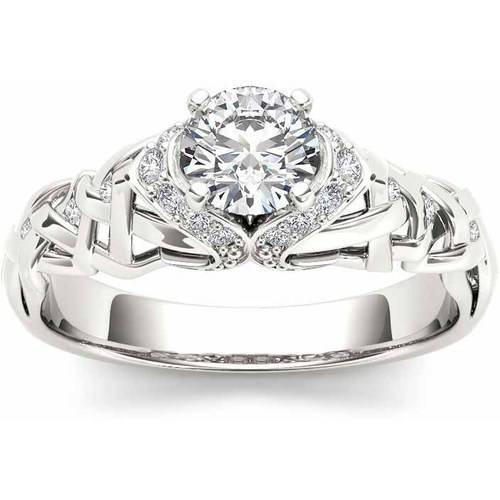 Imperial 1/2 Carat T.W. Diamond Classic 14kt White Gold Engagement Ring