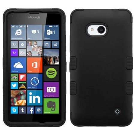 Nokia Lumia 640 Rubberized MyBat TUFF Hybrid Phone Protector