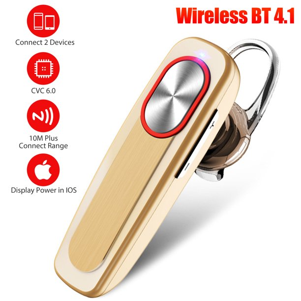 Eeekit Bluetooth Earpiece Wireless Cell Phones Headset With Mic Noise Cancelling Hands Free Earbud Car Driving Headphones Compatible With Iphone Android All Smart Cell Phone 36 Hours Talk Time Walmart Com