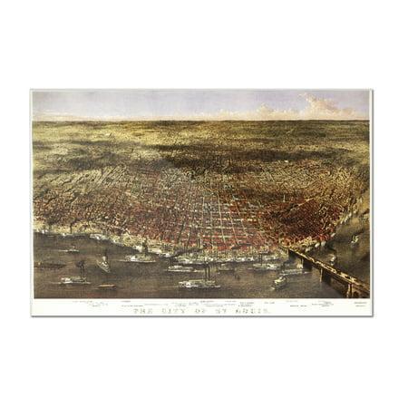 Saint Louis, Missouri - Panoramic Map (12x8 Acrylic Wall Art Gallery Quality)](Party City Saint Louis Missouri)