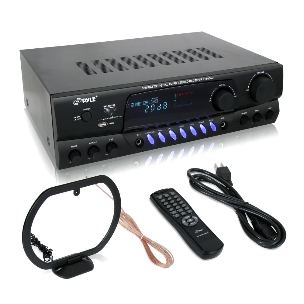 PYLE PT560AU - 300 Watts Digital AM/FM/USB Stereo Receiver