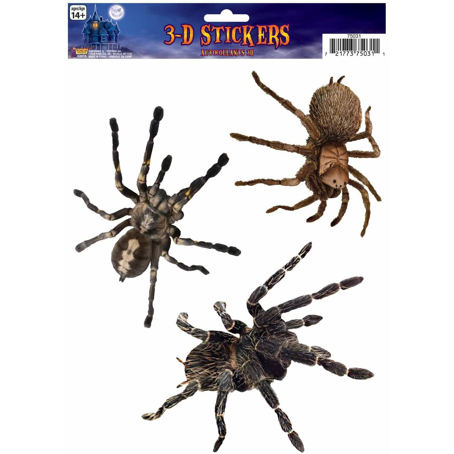 Spider 3D Cling Halloween Decoration