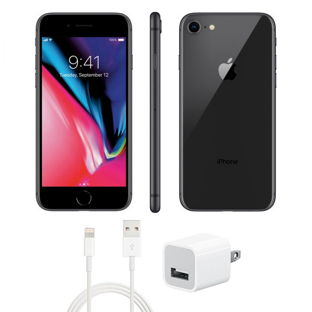 Refurbished iPhone 8 C Grade Space Gray 64 GB GSM Unlocked (Fair Condition).