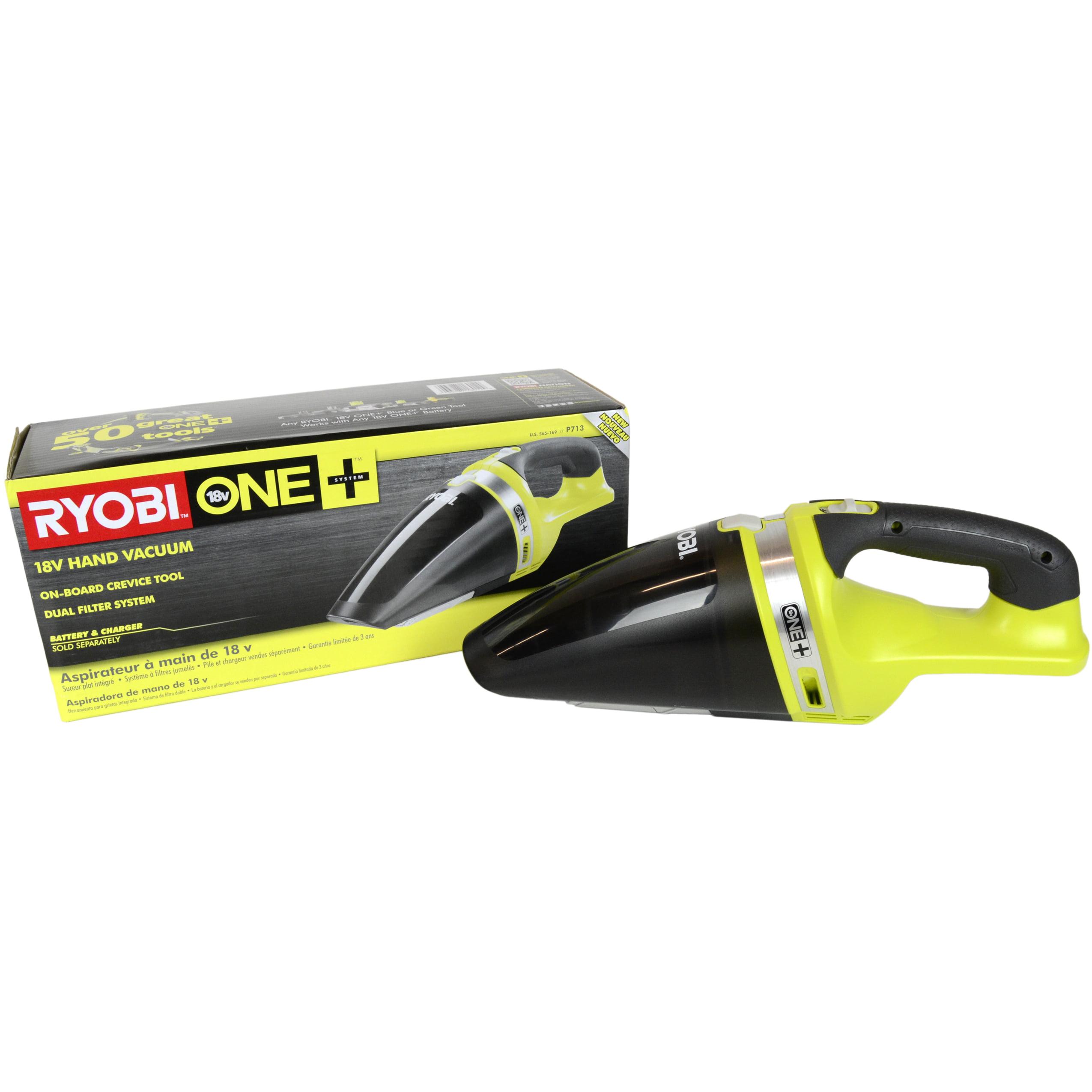 Ryobi Tools P713 18V ONE+ Cordless Lithium-Ion Hand Vacuum, Tool Only