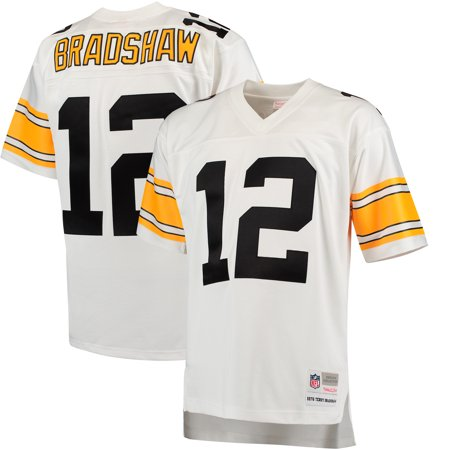 best service 43e5c 403c0 Terry Bradshaw Pittsburgh Steelers Mitchell & Ness Retired Player Legacy  Replica Jersey - White
