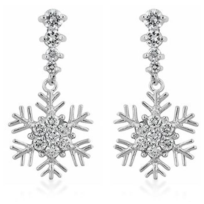 Kate Bissett E50111R-C01 Snowflake Drop Earrings