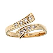 14k Solid Yellow Gold Cubic Zirconia CZ Toe Ring or Ring Adjustable